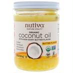 ココナッツオイル(バター風味)414ml Nutiva(ヌティバ) 食用油