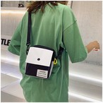 【bag】激安 通販 ファッション配色帆布斜め掛けバッグ
