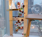 クリスマスイルミネーションライト 2m 【赤い鈴と実と松ぼっくり】LEDライト パーティー 電池式 飾付け デコレーション オーナメント ガーラント