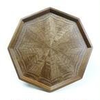 Black Walnut 八角形のトレー OBWT-0151