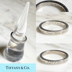 """TIFFANY silver notes ring """"727 fifth avenue"""""""