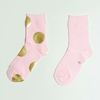 METAL SOX (4.5DOT) PALE PINK X GOLD