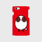 《癒やしの小鳥》シマエナガのオリジナルスマホケース(red)【送料無料】
