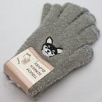 【黒チワワ】スマホ手袋(黒)【ドッグ 犬柄 イヌ 犬雑貨 17319-631-079】
