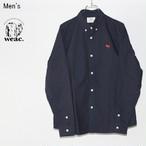 weac. ボタンダウンシャツ PUGCHAN (NAVY) 【Men's】