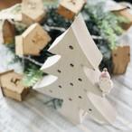 ドットLED木製クリスマスツリー