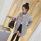 Slim Long Wool Cardigan Coat 267