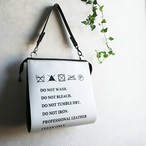 Wash tag bag -タグバッグ- White