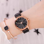 Kimio AF-6365(Black) レディース腕時計