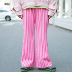 "70's ""Pink Stripe"" Flare Pants"