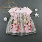 ベビー服 赤ちゃん 服 ベビー  女の子 新生児 新生児 刺繍 花柄  おでかけ 夏服