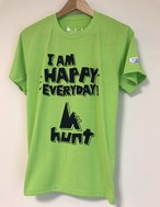 hs-30 ACTIVE 『HAPPY』 T-SHIRT ・ライムグリーン