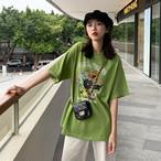 【tops】カートゥーン配色ファッションTシャツ18795334