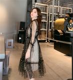 【dress】セクシーワンピース透かし彫りファションドレス