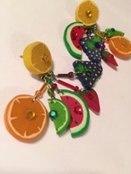 Vintage fruits pierced  earrings ( ヴィンテージ フルーツ ピアス )
