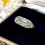 【昭和の懐かしいダイヤモンド2連の指輪】Japanese Traditional ring