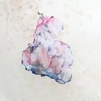 雪解け|染めオーガンジーのゆれるアートピアス