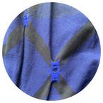【カーブパンツ】cross/播州織 C/W  JQ/ネイビー/original textile