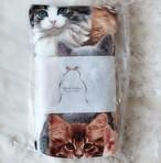 Siamese 猫柄布ナプキン 夜用 (猫いっぱい)