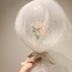 Airy tulle wrapping