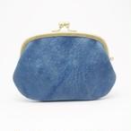 がま口 財布 猪革 藍染 親子 gbwi-001