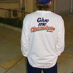 New Give me Chocolate Long Sleeves【White / Blue】