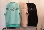 ミラクラムもこもこMTM ★UNISEX トレーナー スウェット MTM 韓国ファッション