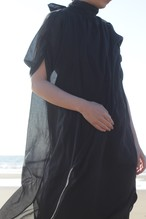 Cotton chiffon dress (Black) 綿シフォンのドレス