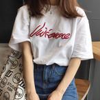 【tops】簡約・シンプル半袖アルファベットTシャツ12854694