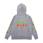 【Goods & Supply】Cactus Pullover Hoodie / Gray