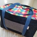 Mサイズ 倉敷デニムのキャリーケースバッグ