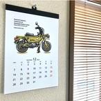 藤原かんいちオリジナルイラストカレンダー2020。イラストで描いた12台の懐かしいモーターサイクル、2020年度版オリジナルカレンダーです