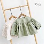 【今だけ!特別セール】送料無料♡韓国子供服 ぽわん袖 パフスリーブ 80~120サイズ