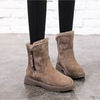 【shoes】ファッションジッパー付き合わせやすいブーツ24491979