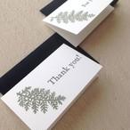 【3枚セット】シルバーレースの押し花カード