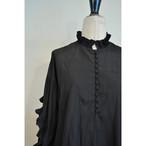 【RehersalL】 frill bijou blouse(black) /【リハーズオール】フリルビジューブラウス(ブラック)