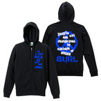 【予約販売】THOUGHT HOODIE / ZIP-UP(BLACK)