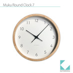 KATOMOKU muku round wall clock 7 km-60NRCS SKP電波時計