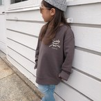 【予約販売】★Kids★ Surf's Up sweat - Charcoal ※10月中旬発送