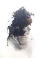 1点物★dangleヘッドドレス(黒×ラメ)