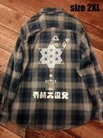 『奇跡大連発』ネルシャツ size 2XL  1点物