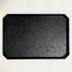 和紙貼 隅切り茶盆 L(黒)