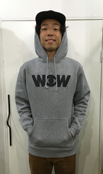WOWパーカー ヘザーグレー(送料込み)