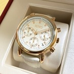RINOクォンタイム・クロノグラフ腕時計・男女兼用(ピュアホワイト・マロンブラウン・フォーマルブラックの3色)