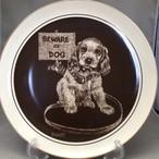 イギリス ロイヤルコーンウォール社 Beware of Dog 犬に注意 子犬のプレート