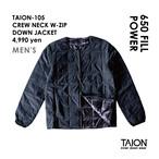 [ 送料無料!! ]【メンズ】TAION-105 CREW NECK W-ZIP DOWN JACKET < ブラック >