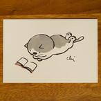 にゃんきーとすポストカード 寝ころんで[NKPC-08]