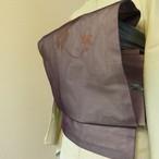 正絹紗 半下色に蔦の柄のなごや帯