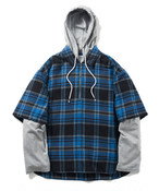 Name.【ネーム】WOOL/RAYON PLAID HOODED SHIRT