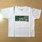 オールドTシャツ企画 江ノ島電鉄100周年記念看板アートTシャツ 極楽寺駅 120サイズ